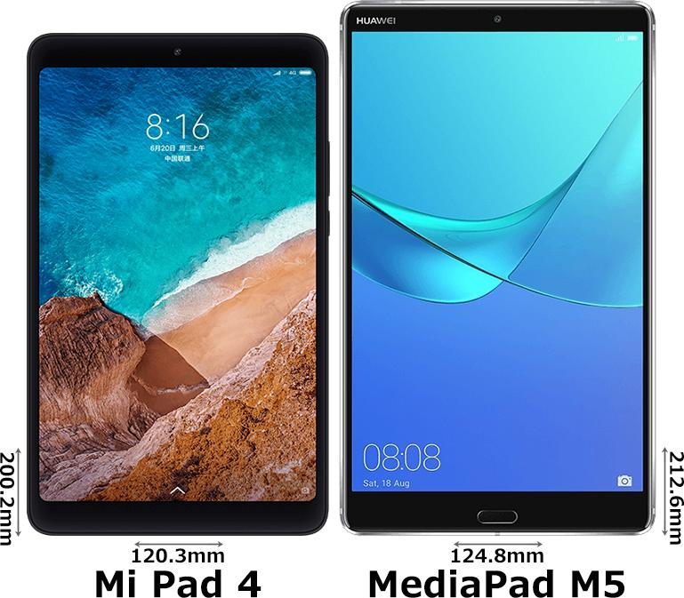 「Mi Pad 4」と「MediaPad M5 8.4」 1