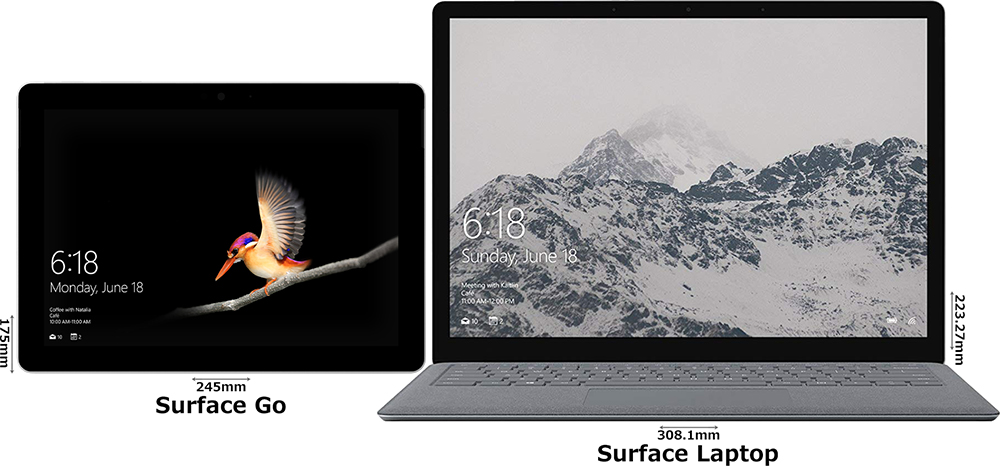 「Surface Go」と「Surface Laptop」 1