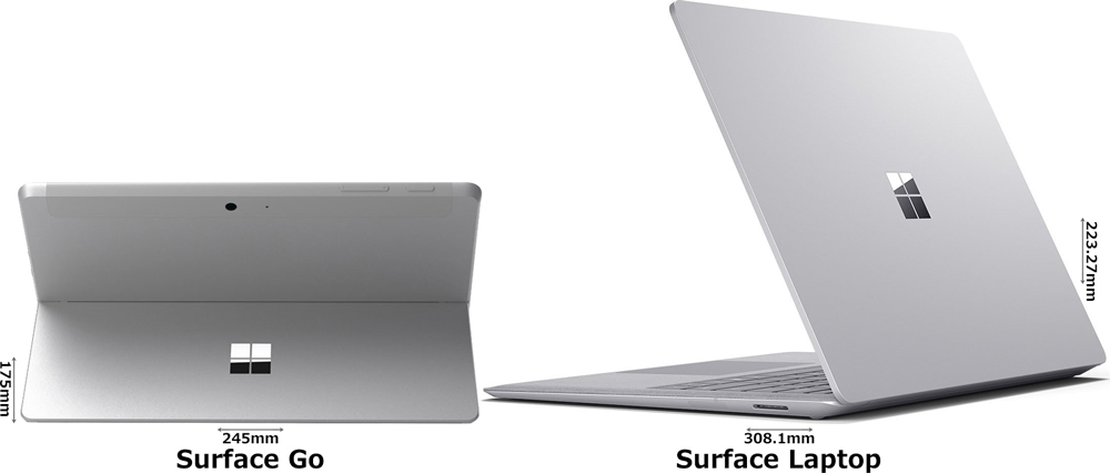 「Surface Go」と「Surface Laptop」 2