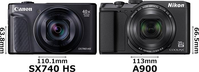 「PowerShot SX740 HS」と「COOLPIX A900」 1