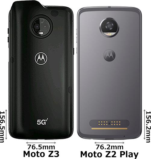 「Moto Z3」と「Moto Z2 Play」 2