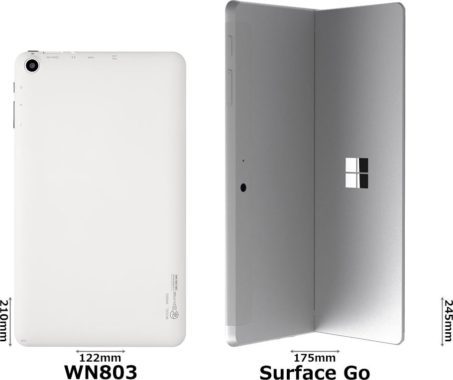 「WN803」と「Surface Go」 2