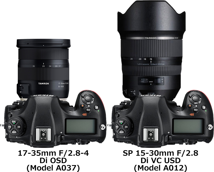 「17-35mm F/2.8-4 Di OSD (Model A037)」と「SP 15-30mm F2.8 Di VC USD (Model A012)」 2