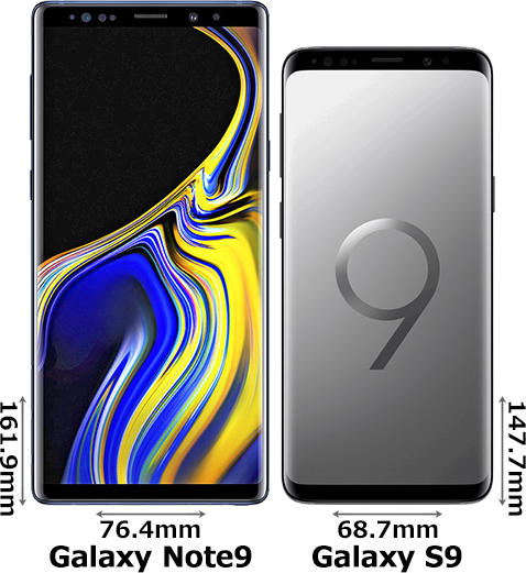 「Galaxy Note9」と「Galaxy S9」 1
