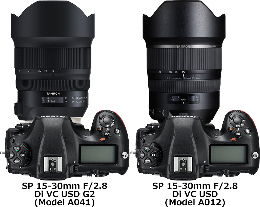「SP 15-30mm F/2.8 Di VC USD G2 (Model A041)」と「SP 15-30mm F2.8 Di VC USD (Model A012)」 2