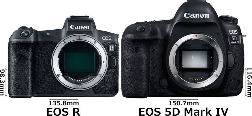 「EOS R」と「EOS 5D Mark IV」 1