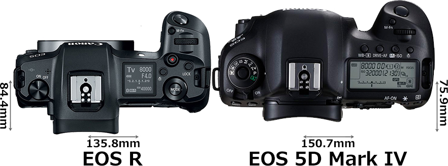 「EOS R」と「EOS 5D Mark IV」 3