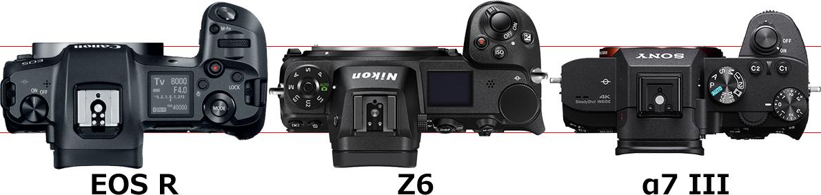 「EOS R」と「Z6」と「α7 III」 3