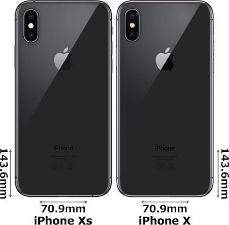 「iPhone Xs」と「iPhone X」 2