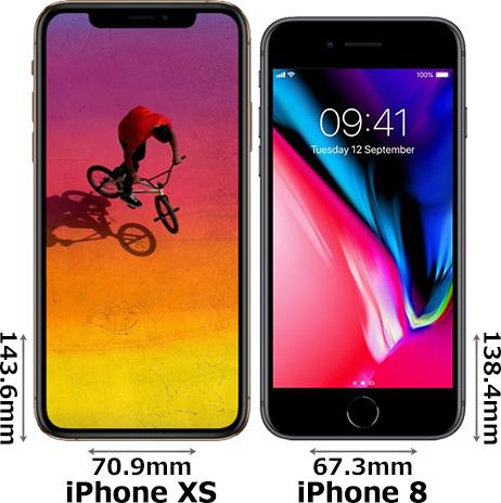 「iPhone XS」と「iPhone 8」 1