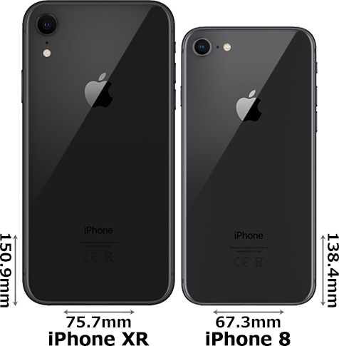 「iPhone XR」と「iPhone 8」 2