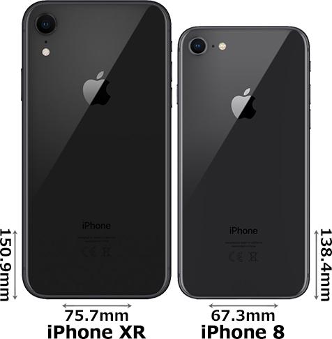 「iPhone XR」と「iPhone 8」 2