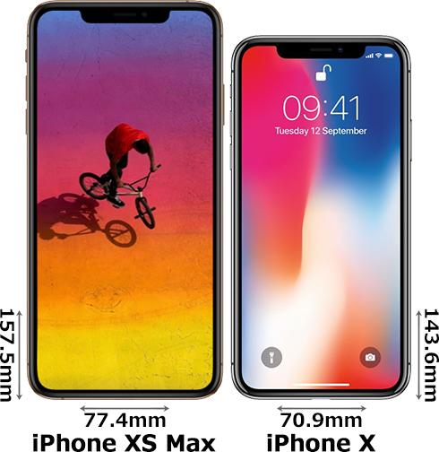 「iPhone XS Max」と「iPhone X」 1