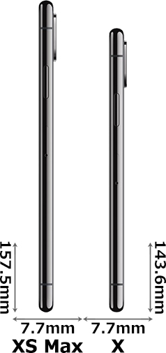 「iPhone XS Max」と「iPhone X」 3