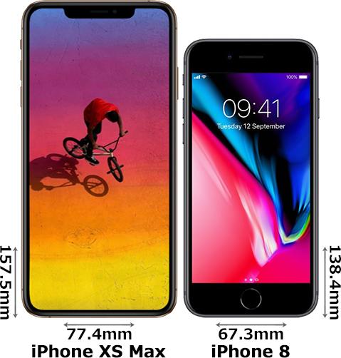 「iPhone XS Max」と「iPhone 8」 1