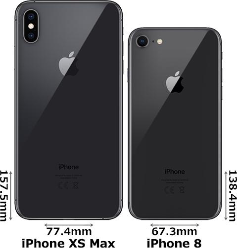 「iPhone XS Max」と「iPhone 8」 2