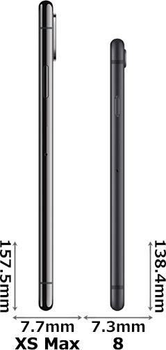 「iPhone XS Max」と「iPhone 8」 3