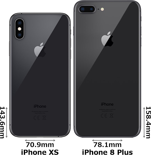 「iPhone XS」と「iPhone 8 Plus」 2
