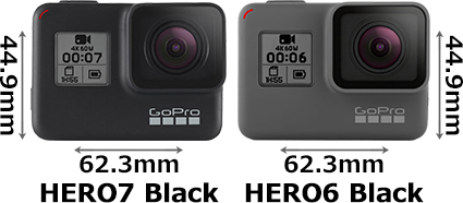 「GoPro HERO7 Black」と「GoPro HERO6 Black」 1