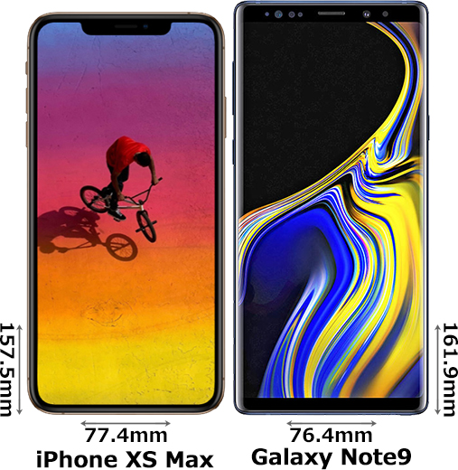 「iPhone XS Max」と「Galaxy Note9」 1
