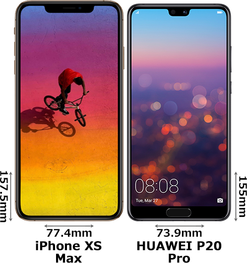 「iPhone XS Max」と「HUAWEI P20 Pro」 1