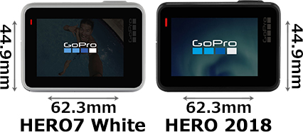 「GoPro HERO7 White」と「GoPro HERO 2018」 2