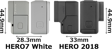 「GoPro HERO7 White」と「GoPro HERO 2018」 3