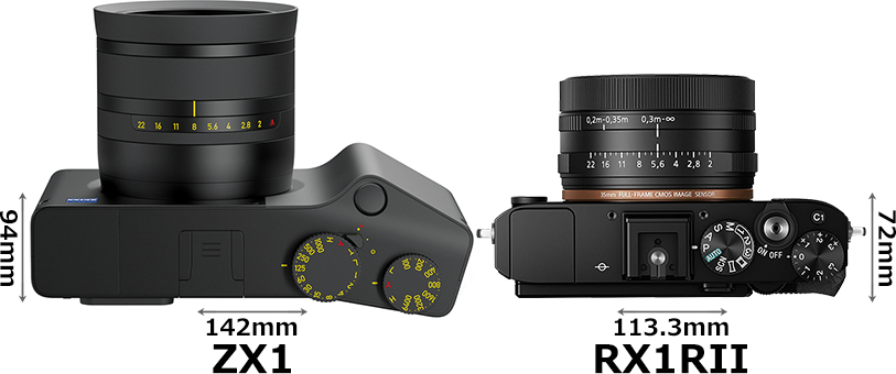 「Zeiss ZX1」と「RX1RII」 3