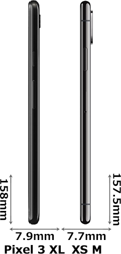 「Google Pixel 3 XL」と「iPhone XS Max」 3