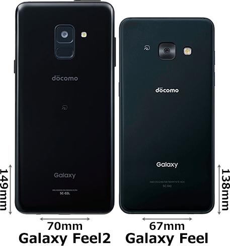「Galaxy Feel2」と「Galaxy Feel」 2