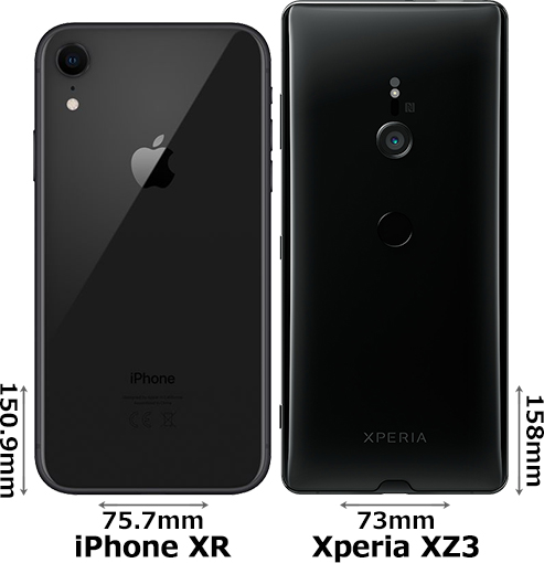 「iPhone XR」と「Xperia XZ3」 2