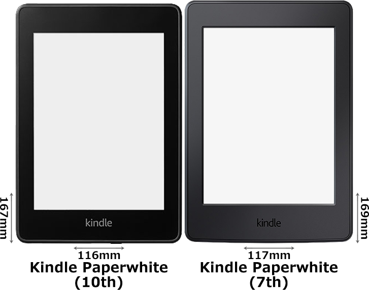 「Kindle Paperwhite (第10世代)」と「Kindle Paperwhite (第7世代)」 1
