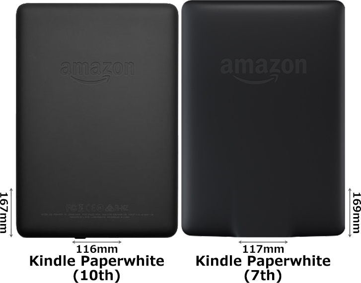 「Kindle Paperwhite (第10世代)」と「Kindle Paperwhite (第7世代)」 2