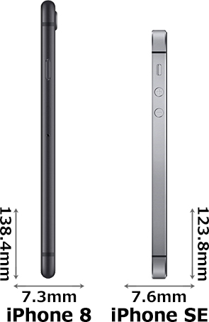「iPhone 8」と「iPhone SE」 3