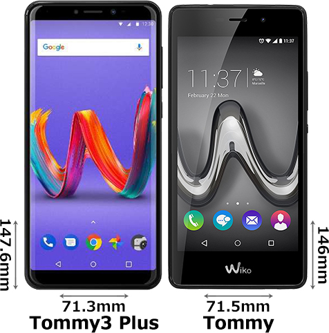 「Wiko Tommy3 Plus」と「Wiko Tommy」 1