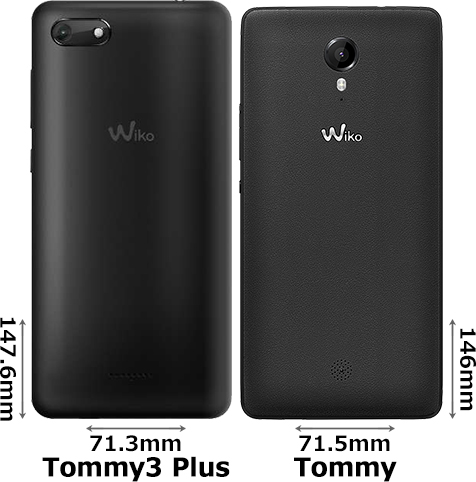 「Wiko Tommy3 Plus」と「Wiko Tommy」 2