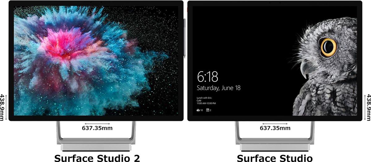 「Surface Studio 2」と「Surface Studio」 1