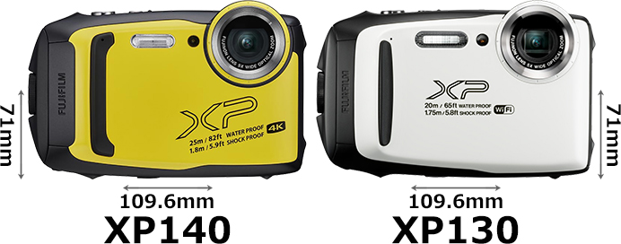 「FinePix XP140」と「FinePix XP130」 1