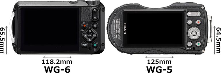「RICOH WG-6」と「RICOH WG-5 GPS」 2