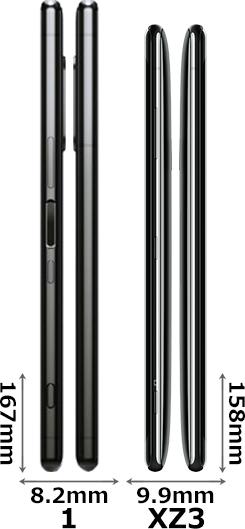 「Xperia 1」と「Xperia XZ3」 3