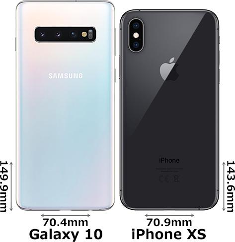「Galaxy S10」と「iPhone XS」 2