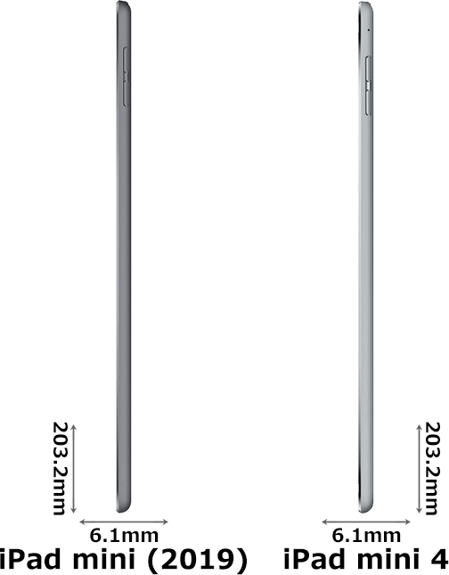 「iPad mini (2019)」と「iPad mini 4」 3