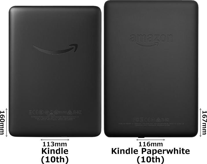 「Kindle (第10世代)」と「Kindle Paperwhite (第10世代)」 2