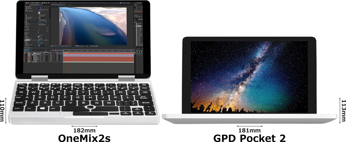 「OneMix2s」と「GPD Pocket 2」 1