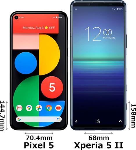 「Google Pixel 5」と「Xperia 5 II」 1