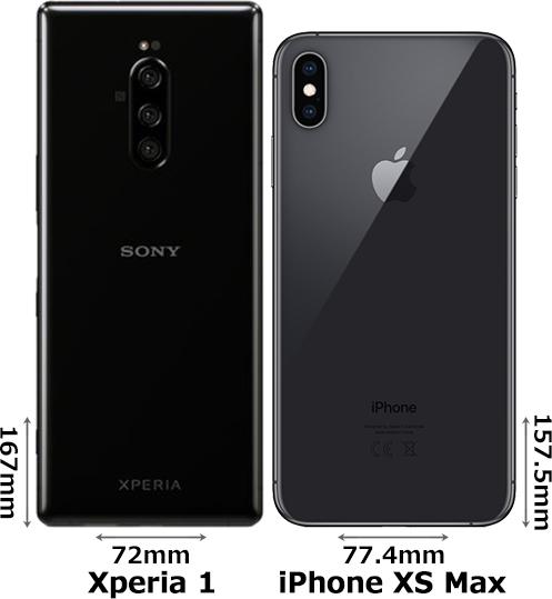 「Xperia 1」と「iPhone XS Max」 2