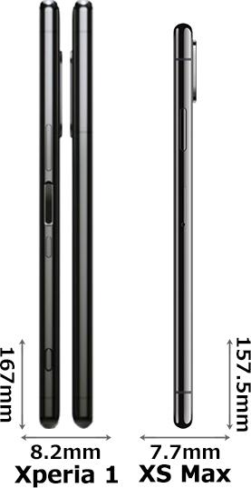 「Xperia 1」と「iPhone XS Max」 3