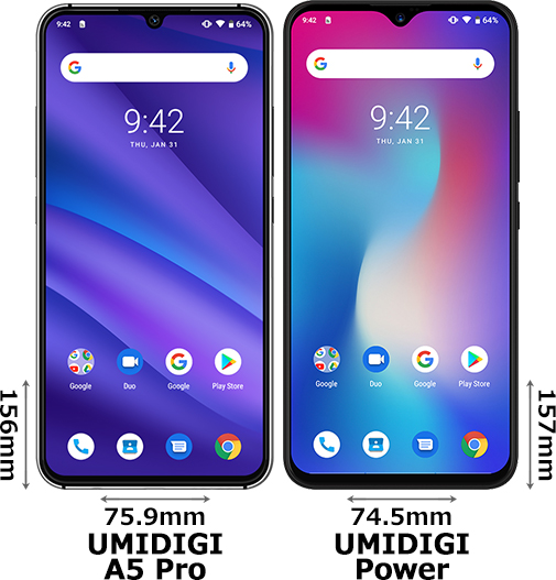 「UMIDIGI A5 Pro」と「UMIDIGI Power」 1
