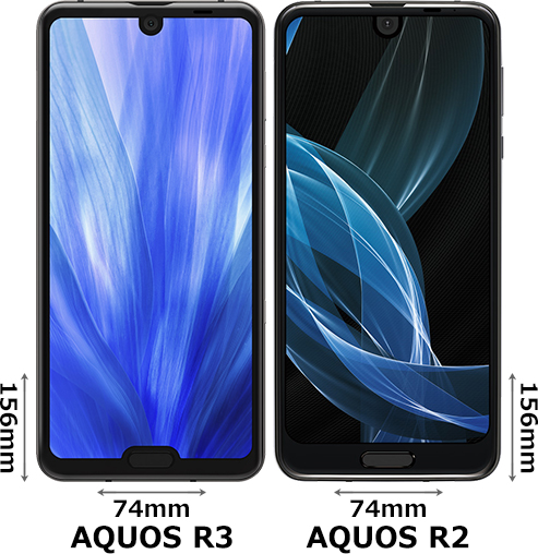「AQUOS R3」と「AQUOS R2」 1