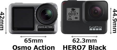 「Osmo Action」と「GoPro HERO7 Black」 1